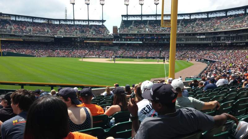 Seating view for Comerica Park Section 144 Row M Seat 19
