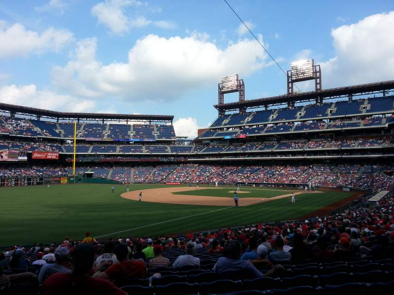 Seating view for Citizens Bank Park Section 137 Row 32 Seat 14