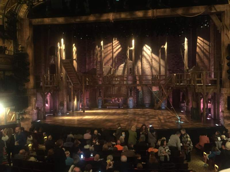 Seating view for Richard Rodgers Theatre Section Orchestra Center Row O Seat 102-103