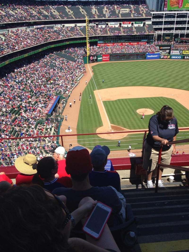 Seating view for Globe Life Park in Arlington Section 329 Row 5 Seat 18