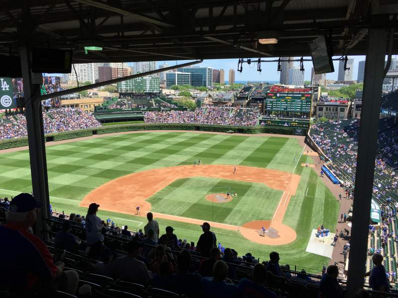 Seating view for Wrigley Field Section 517 Row 9 Seat 101
