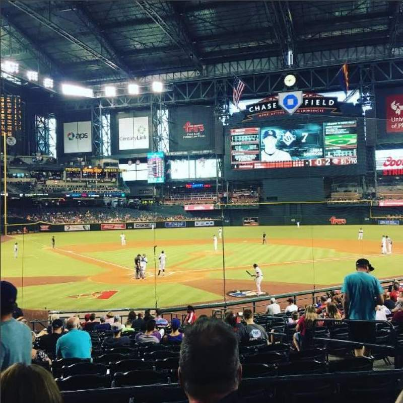 Seating view for Chase Field Section 120 Row 23 Seat 7