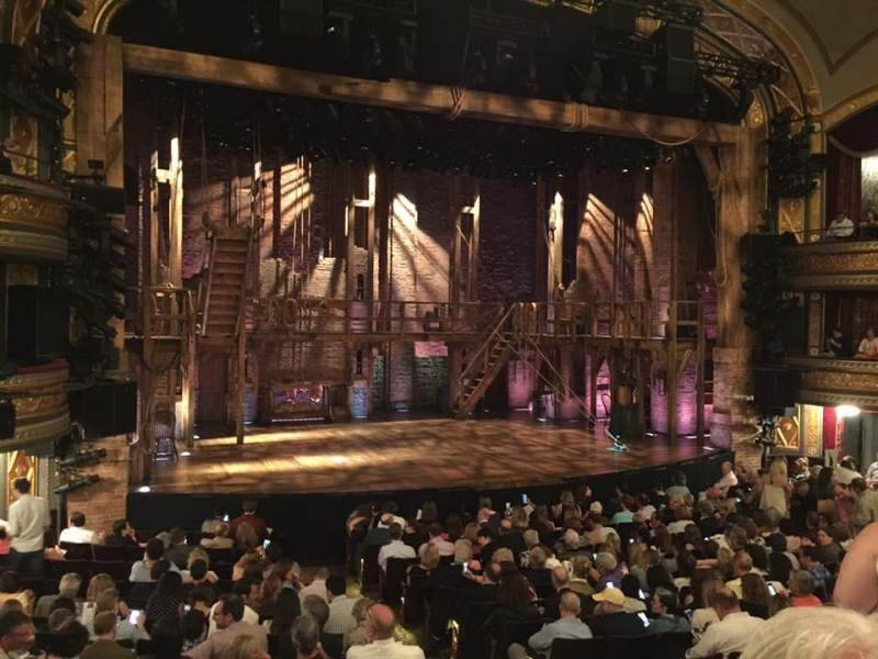Seating view for Richard Rodgers Theatre Section Orchestra Row P Seat 7