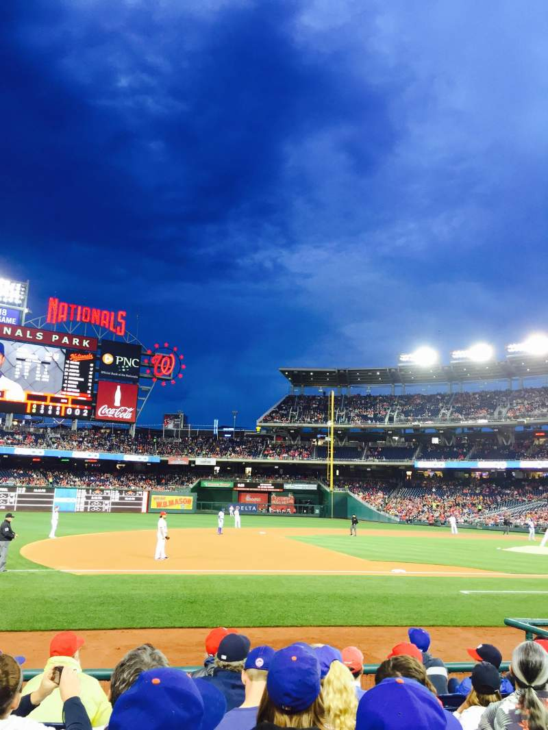 Seating view for Nationals Park Section 115 Row H Seat 18