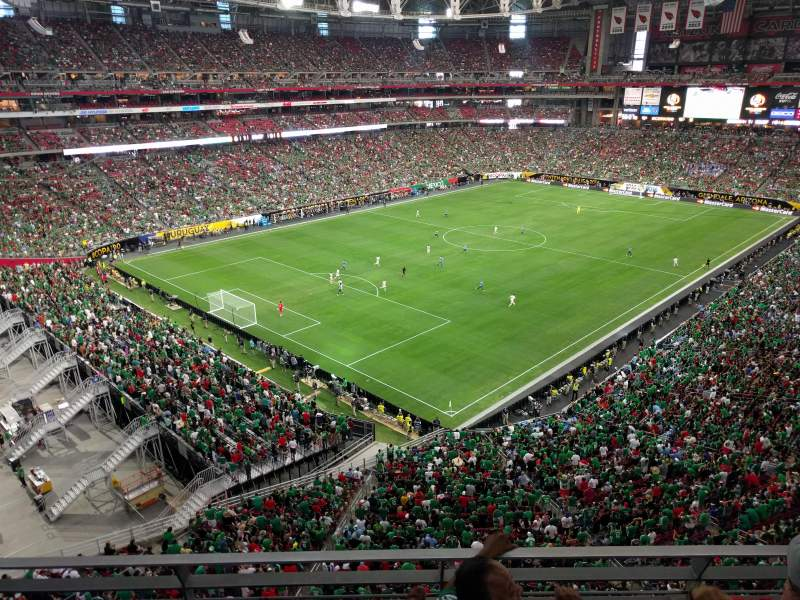 Seating view for University of Phoenix Stadium Section 345 Row 1 Seat 2