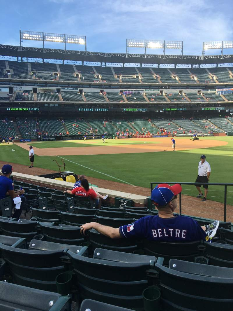 Seating view for Globe Life Park in Arlington Section 39 Row 8 Seat 5-8
