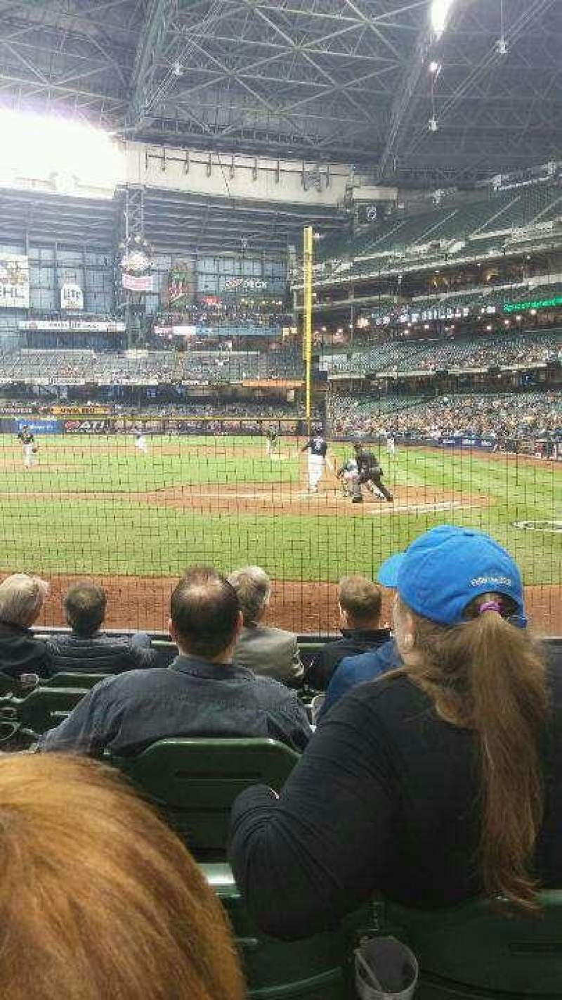 Seating view for Miller Park Section 120 Row 6 Seat 2