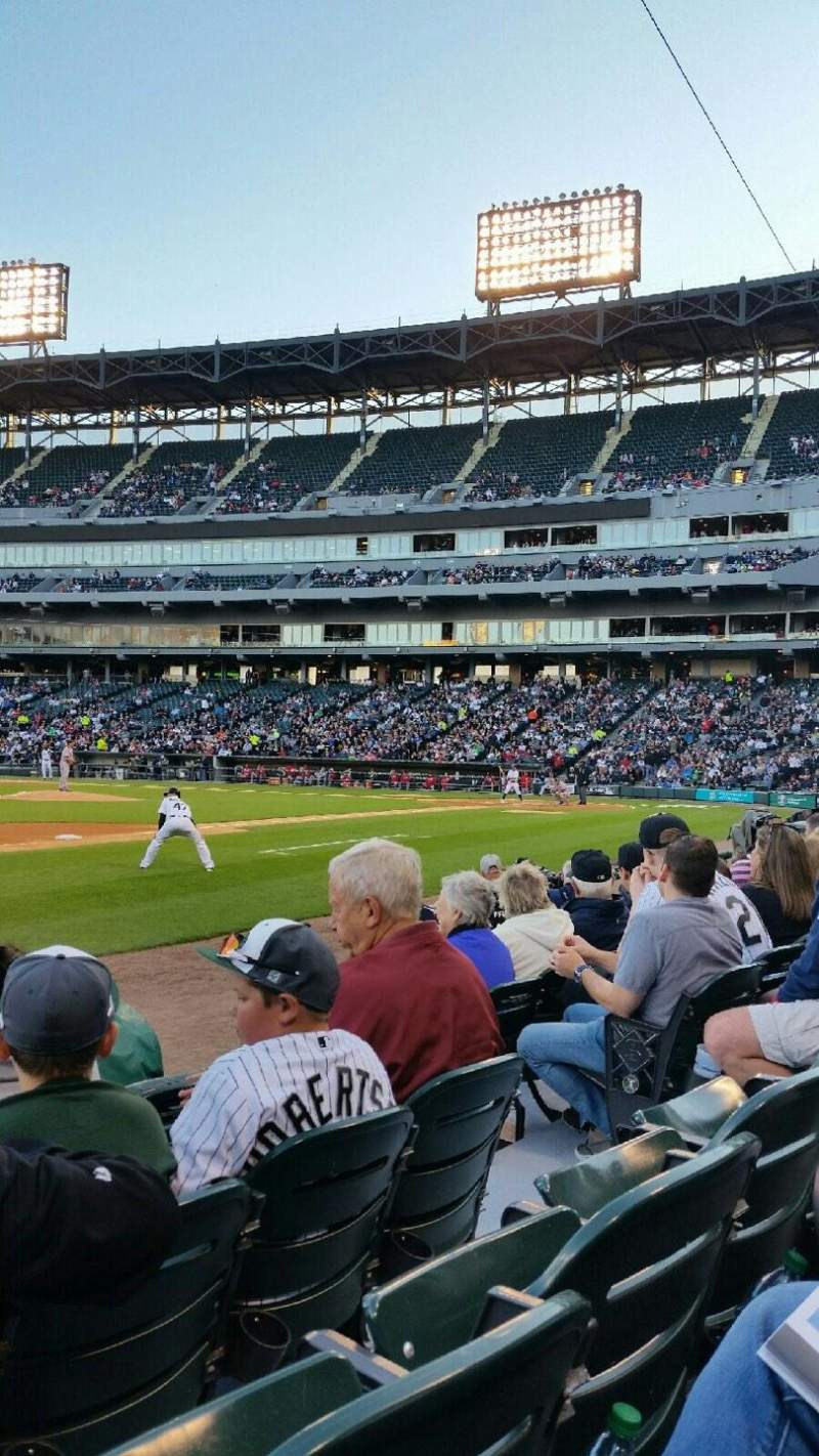 Seating view for Guaranteed Rate Field Section 144 Row 5 Seat 6