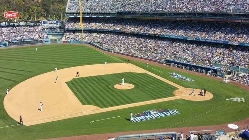 Seating view for Dodger Stadium Section 23RS Row T Seat 4