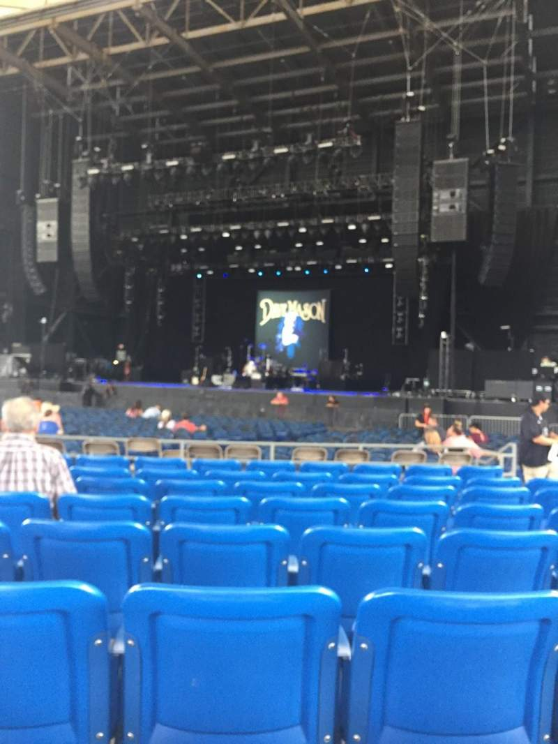 Seating view for MidFlorida Credit Union Amphitheatre Section 6 Row 17 Seat 16