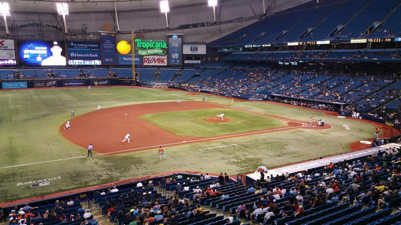 Seating view for Tropicana Field Section 215 Row A Seat 18