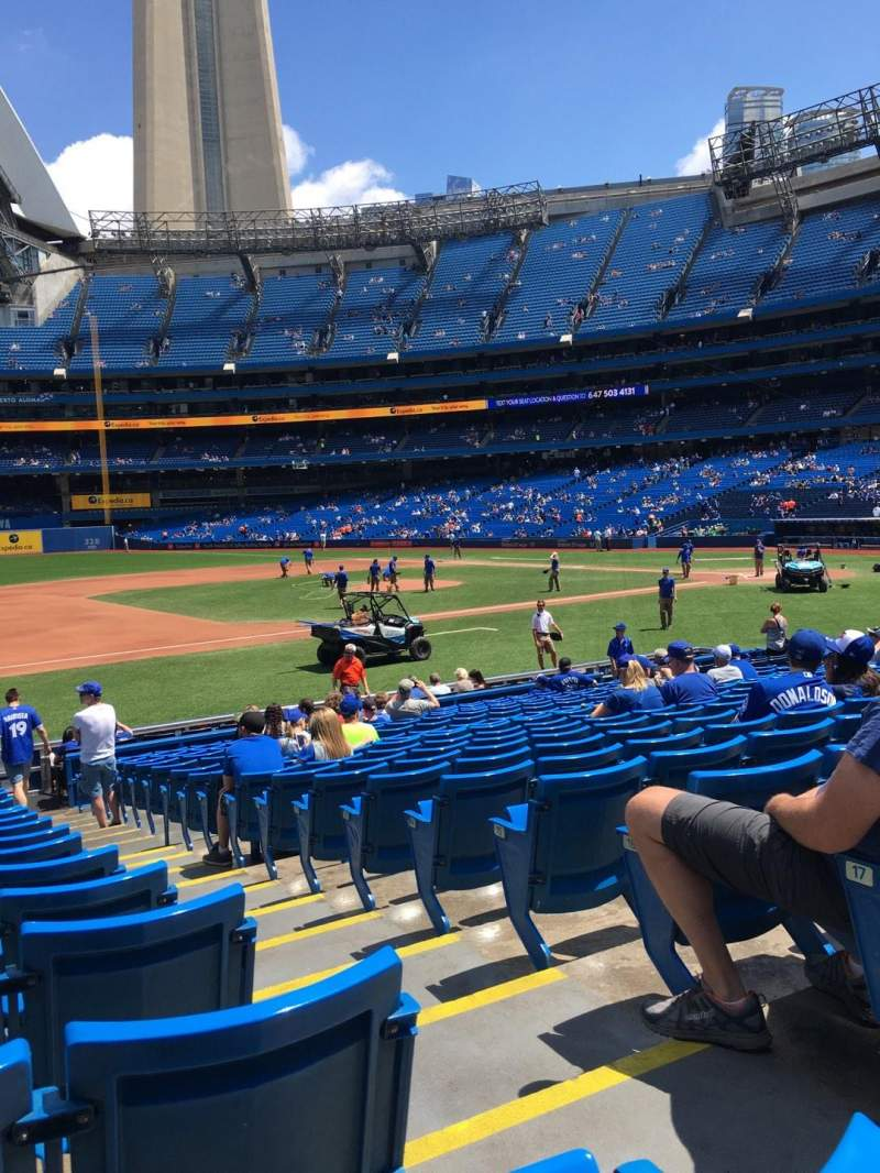 Seating view for Rogers Centre Section 128L Row 19 Seat 102