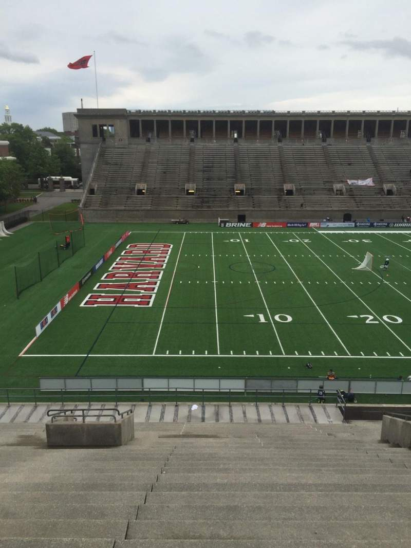Seating view for Harvard Stadium Section 35 Row MM Seat 14