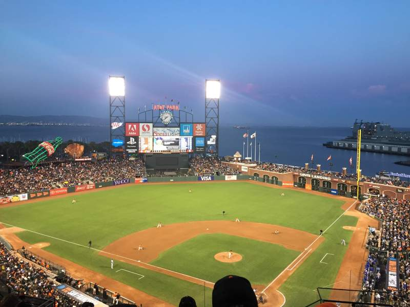 Seating view for AT&T Park Section 318 Row 7 Seat 3