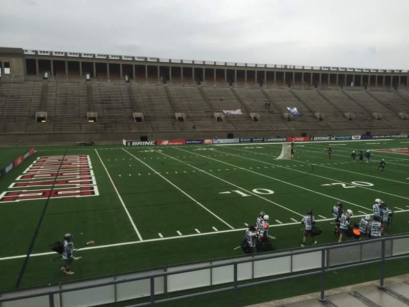 Harvard Stadium, section: 36, row: D, seat: 6