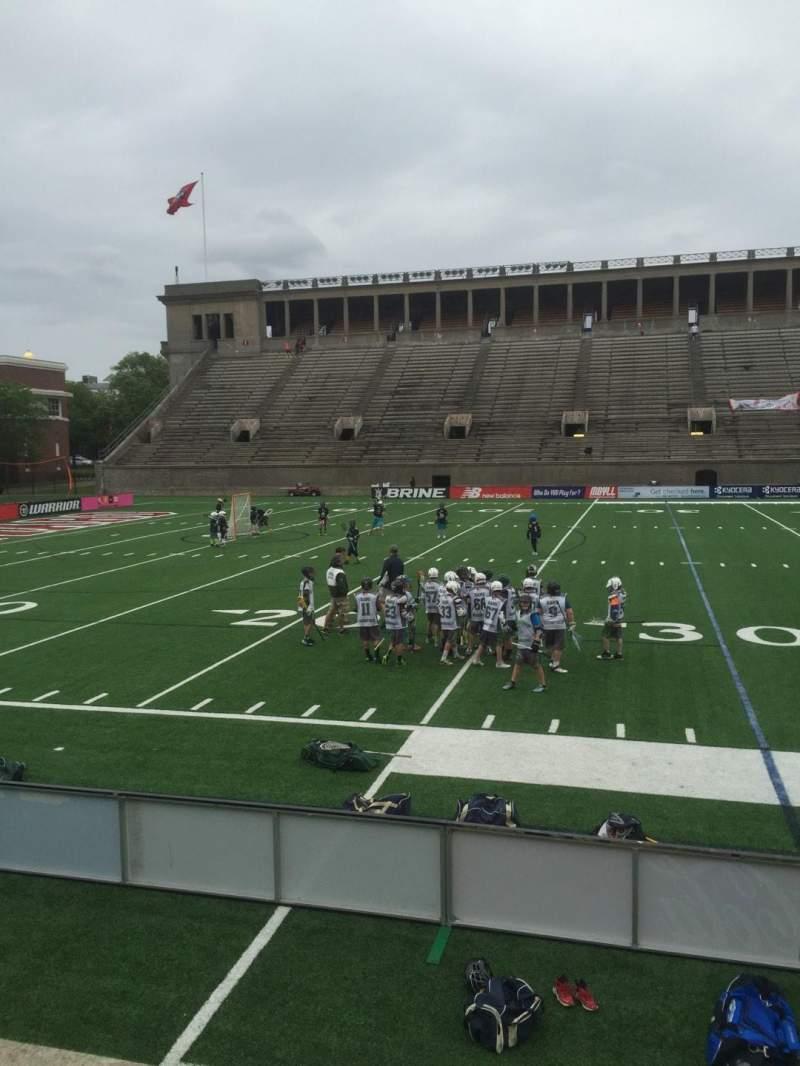 Harvard Stadium, section: 33, row: N, seat: 12