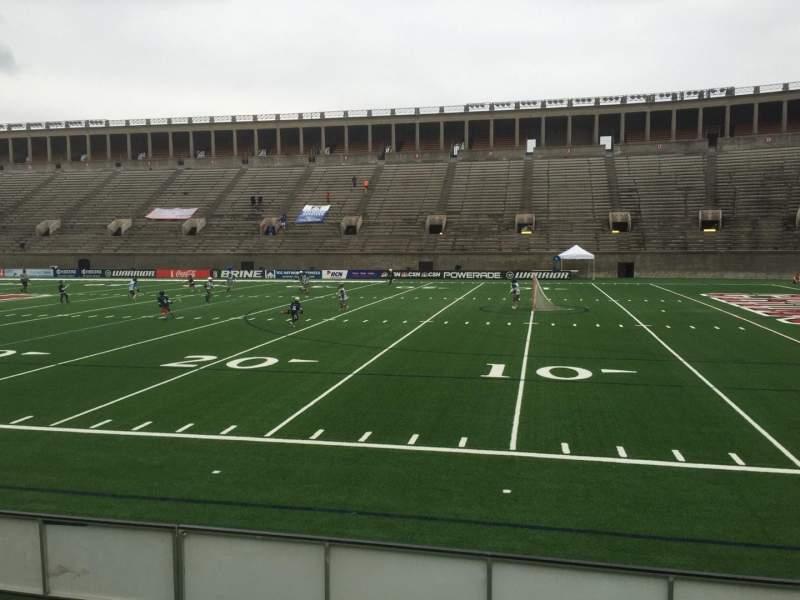 Harvard Stadium, section: 27, row: M, seat: 18