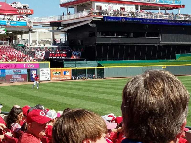 Seating view for Great American Ball Park Section 112 Row j Seat 10