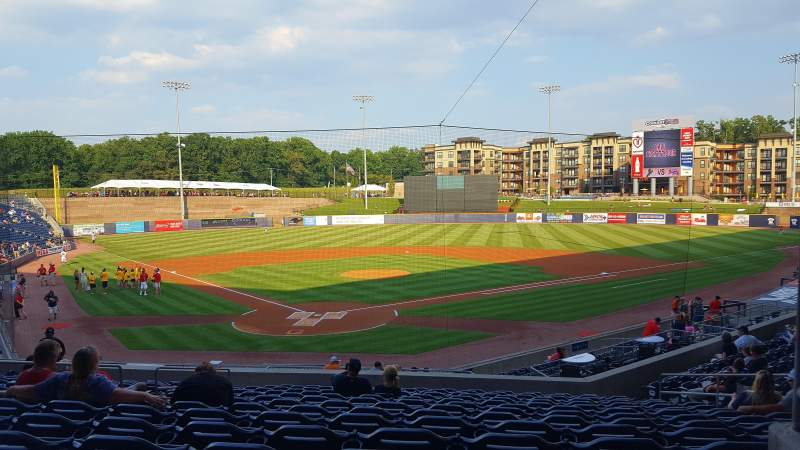 Seating view for Coolray Field Section 101 Row V Seat 10