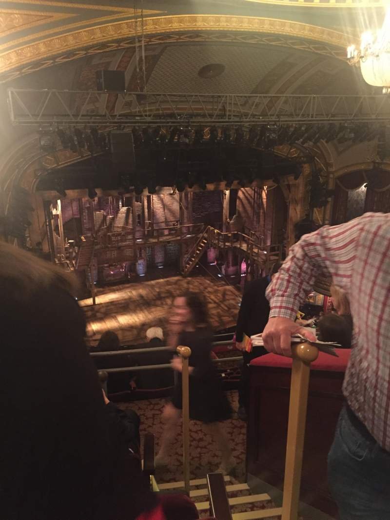 Seating view for Richard Rodgers Theatre Section R Mezz Row E Seat 115