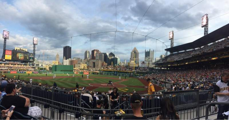 Seating view for PNC Park Section 119 Row C Seat 2