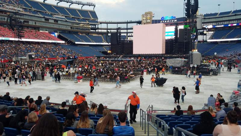 Seating view for Gillette Stadium Section 140 Row 12 Seat 1