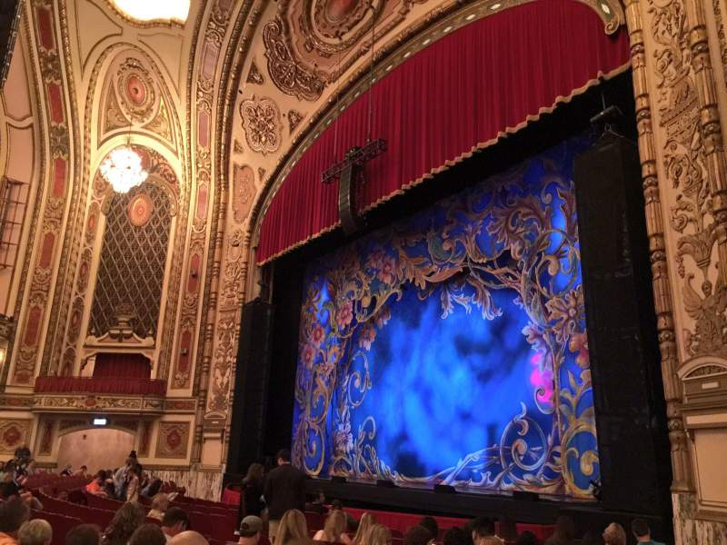 Seating view for Cadillac Palace Theater Section Orchestra R Row M Seat 38