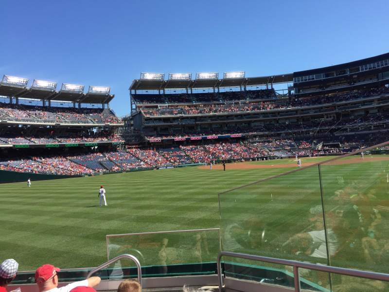 Seating view for Nationals Park Section 100 Row E Seat 2