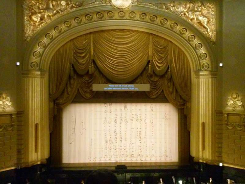 Seating view for War Memorial Opera House Section Grand Tier Row C Seat 108