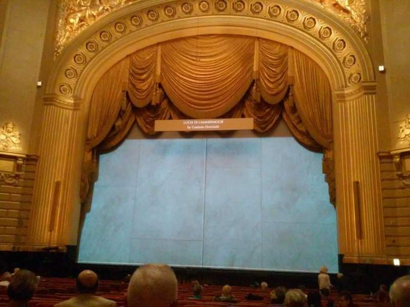 Seating view for War Memorial Opera House Section Orchestra Row U Seat 116