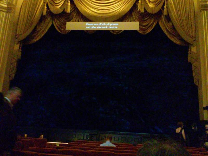 Seating view for War Memorial Opera House Section Orchestra Row K Seat 108
