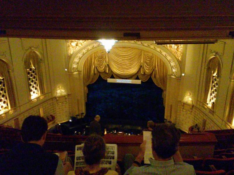 Seating view for War Memorial Opera House Section Rear Balcony Row G Seat 120