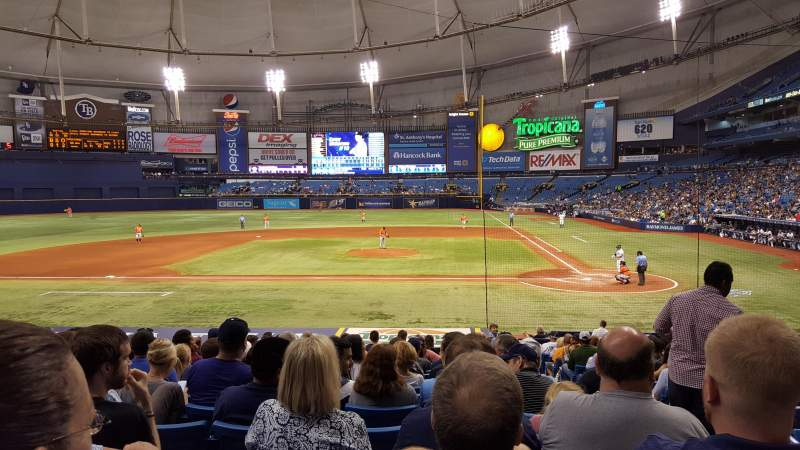 Seating view for Tropicana Field Section 111 Row Z Seat 9