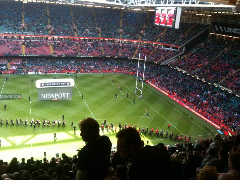 Seating view for Principality Stadium Section U8 Row 30 Seat 3