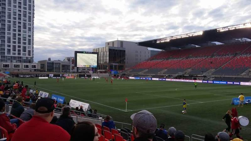 Seating view for TD Place Stadium Section L Row 13 Seat 14