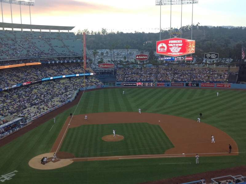 Seating view for Dodger Stadium Section 10RS Row J Seat 8