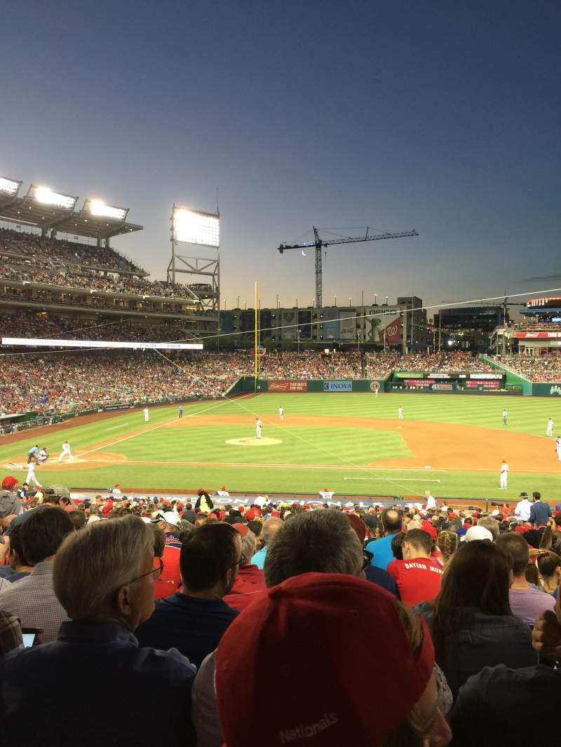 Seating view for Nationals Park Section 129 Row RR Seat 10