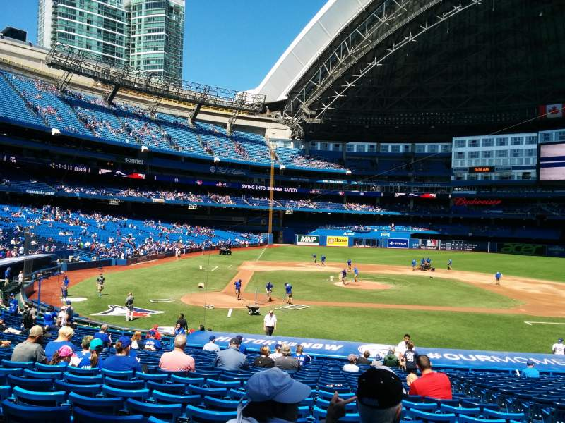 Seating view for Rogers Centre Section 118L Row 29 Seat 106