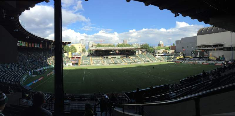Seating view for Providence Park Section 215 Row H Seat 5