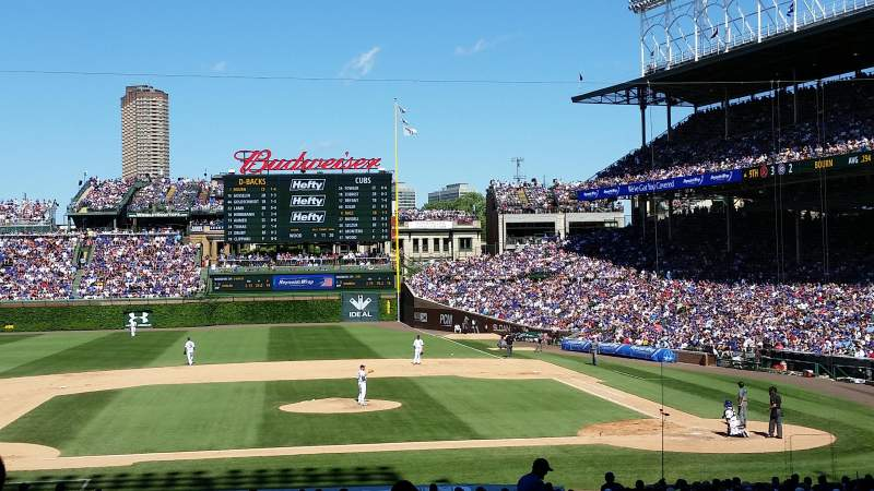 Seating view for Wrigley Field Section 215 Row 4 Seat 101-102