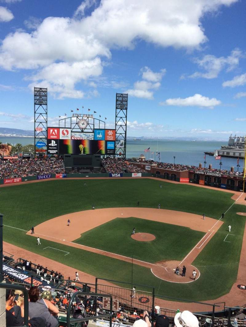Seating view for AT&T Park Section 318 Row G Seat 11