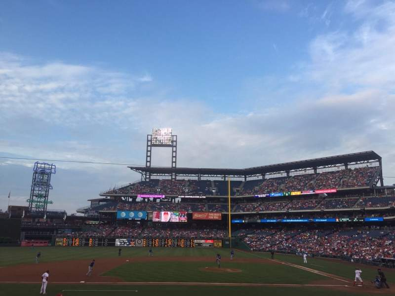 Seating view for Citizens Bank Park Section 130 Row 19 Seat 13