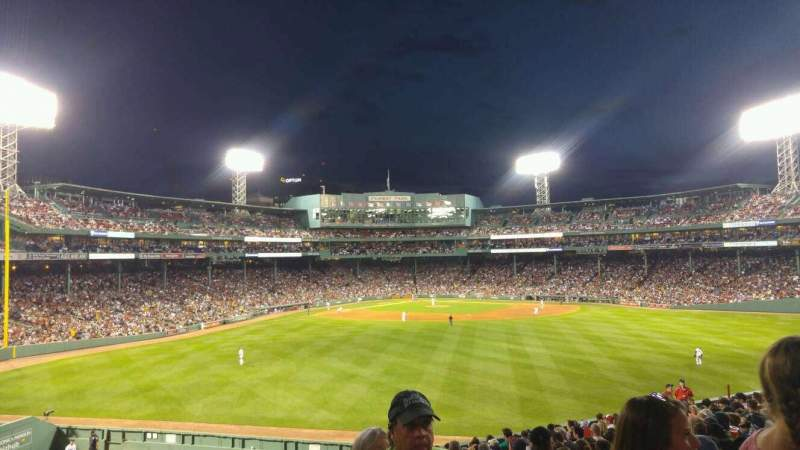 Seating view for Fenway Park Section Bleacher 38 Row 19 Seat 2