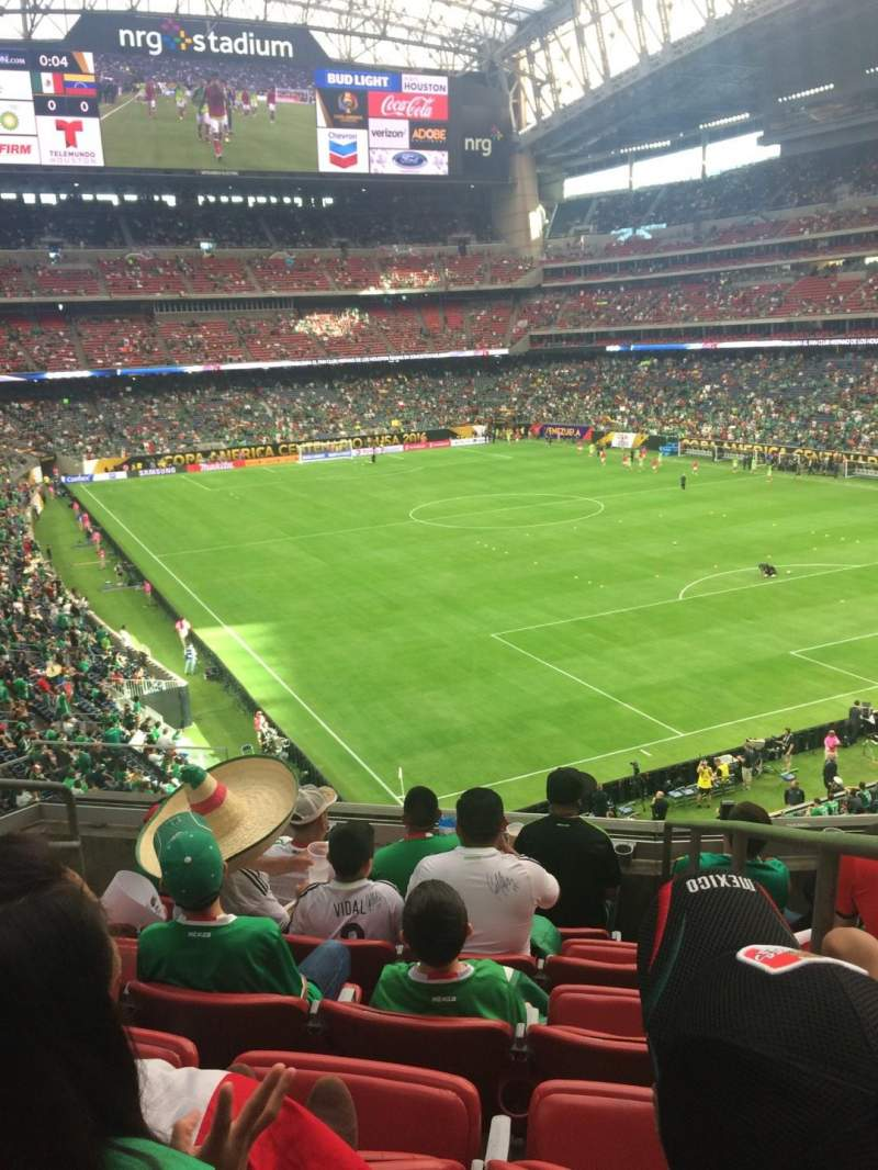Seating view for NRG Stadium Section 329 Row F Seat 1