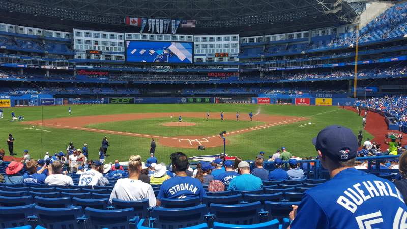 Seating view for Rogers Centre Section 122L Row 25 Seat 107