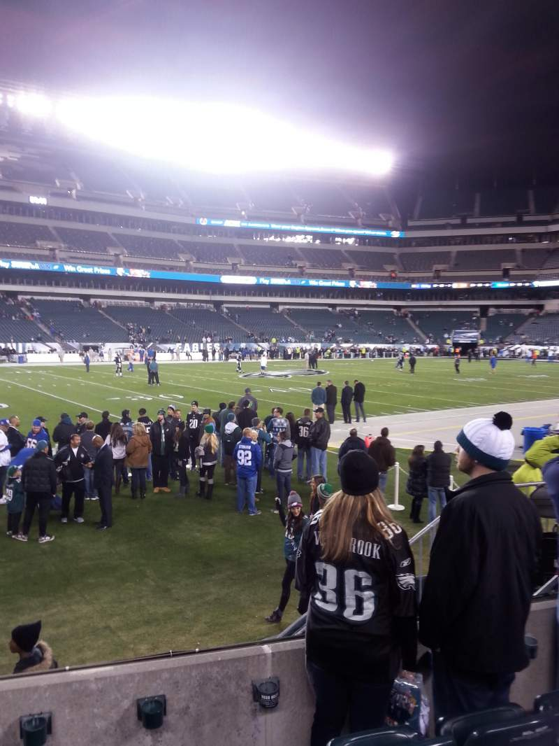 Seating view for Lincoln Financial Field Section 136 Row 4 Seat 6