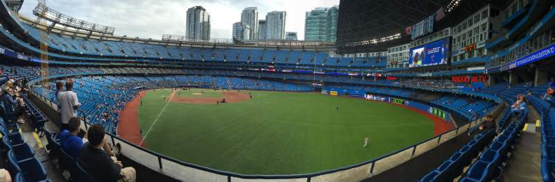 Seating view for Rogers Centre Section 209R Row 3 Seat 8