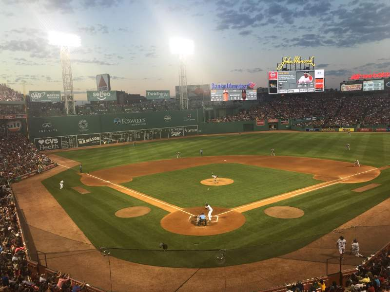 Seating view for Fenway Park Section EMC Club 3 Row 1 Seat 1