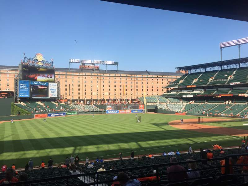 Seating view for Oriole Park at Camden Yards Section 67 Row 5 Seat 7