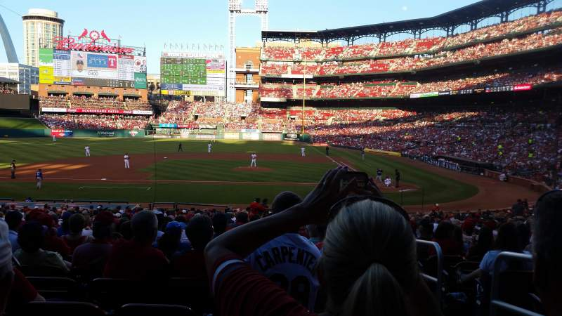 Seating view for Busch Stadium Section 155 Row 22 Seat 2